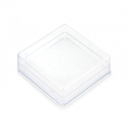 Square plastic case with sponge 7x2,5x7 cm