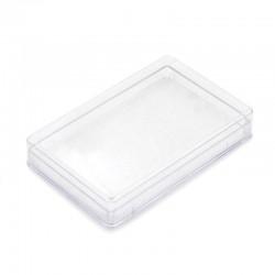 Rectangular plastic case with sponge 12.5x2.2x8 cm