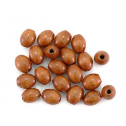 Oval natural wood bead 9x8 mm 2000 pieces