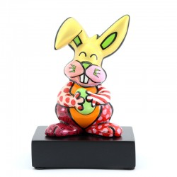Figura Orange Rabbit 14 cm Romero Britto GOEBEL-1