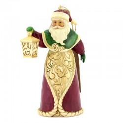Santa Claus with lantern 12 cm Jim Shore 6008128