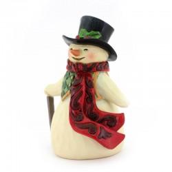 Snowman with stick 11 cm Jim Shore 6009008