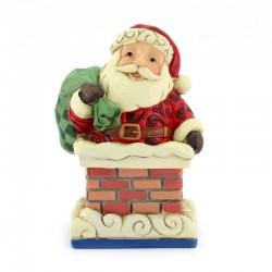 Santa Clause on chimney 10 cm Jim Shore 6009011