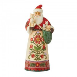 Santa Clause with kittens  26 cm Jim Shore 6008880