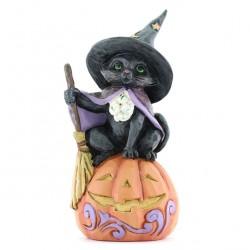 Witch cat in the pumpkin 10 cm Jim Shore 6009515