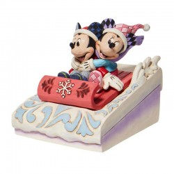 Mickey and Minnie on sleds 11 cm Disney Traditions 6008972