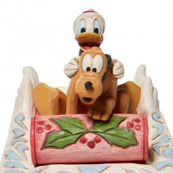Donald Duck and Pluto on sleds 11 cm Disney Traditions 6008973