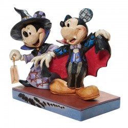 Mickey and Minnie Halloween vampire and witch 13 cm Disney Traditions 6008989