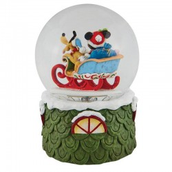 Mickey Mouse and Pluto snowball 16,5 cm Disney Traditions 6009581