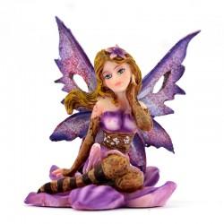 Fairy sitting on Lotus flower 7 cm Les Alpes