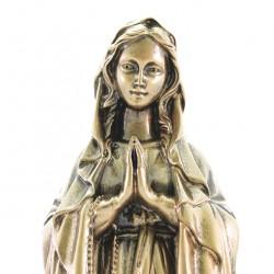 Madonna of Lourdes in bronzed resin statue 40 cm