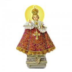 Magnet Infant Jesus of Prague with prayer 4.5x7 cm