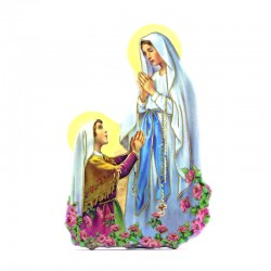 Magnet Our Lady of Lourdes with prayer 5x7,5 cm