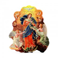 Magnet Mary Untier of Knots with prayer 6x7 cm