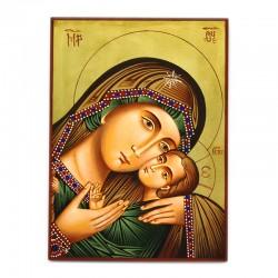 Hand painted Madonna Korsun icon 22x30 cm