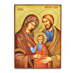 Holy Family Icon-B hand painted 22x30 cm