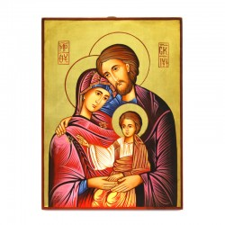 Holy Family Icon-C hand painted 22x30 cm