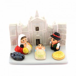 Loreto Nativity scene in terracotta 9,5x7 cm