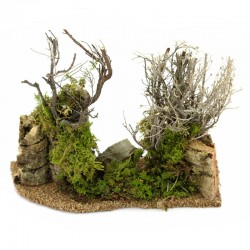 Grove branches and moss for the nativity scene 19x15 cm