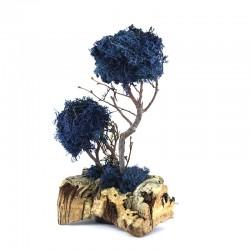 Blu lichen trees with cork 12x20 cm