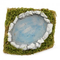 Pond with water effect for nativity scene 13x13 cm