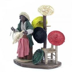 Dressed terracotta black hatter 12 cm