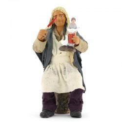 Dressed terracotta shepherd decorator 12 cm