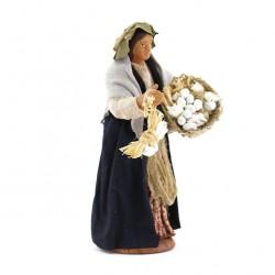 Garlic seller in dressed terracotta 12 cm