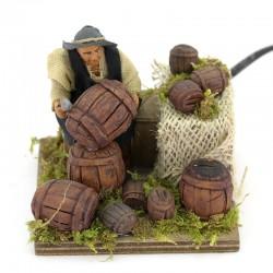 Moving barrel fixer in dressed terracotta 10 cm