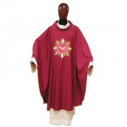Chasuble Holy Spirit and golden Rays embroidery in pure wool