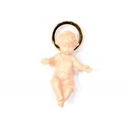 Plastic Baby Jesus with Golden Halo 4 cm