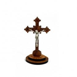 Olive Wood Crucifix Benedict XVI 9x5x5 cm