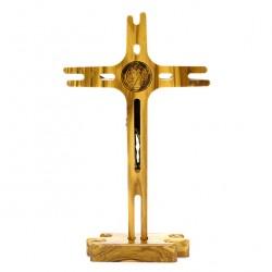 St. Benedict Crucifix with Base 11.5x20 cm