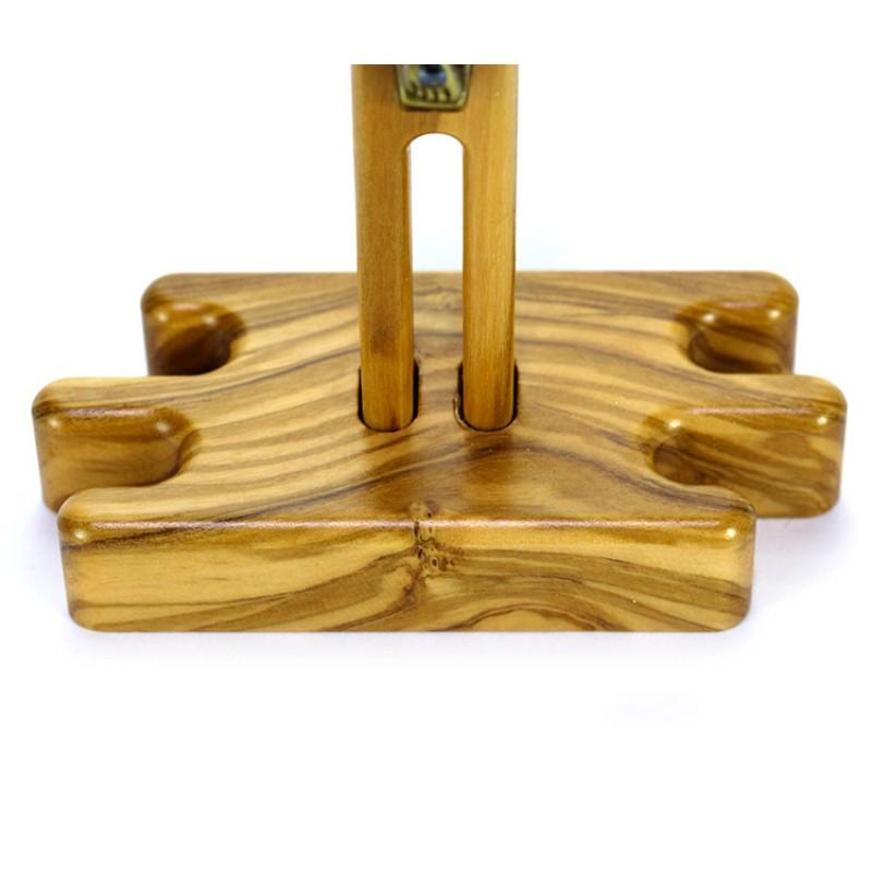 Crocifisso san benedetto da tavolo in ulivo 11 5x20 cm for Tavolo in legno di ulivo