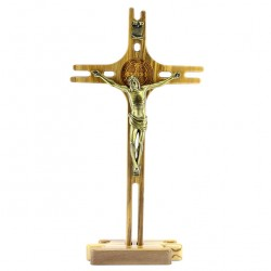 St. Benedict Crucifix with Base 14x27 cm