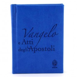 Blue Gospel Book and Acts of the Apostles 10x14 cm