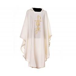 Casula liturgica Pax Spighe Pesci in poliestere