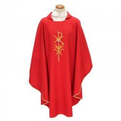 Casula liturgica Pax uva e spighe in poliestere