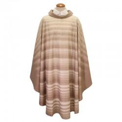 Casula in pura lana serigrafata modello Onde