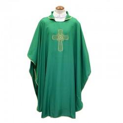 Casula con ricamo Croce in poliestere
