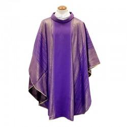 Casula liturgica in satin di seta rigato
