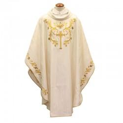 Casula Croce e decorazioni dorate misto lana e seta