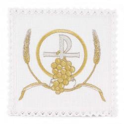 Servizio da Messa Simboli Eucaristici in puro lino
