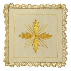 Palla Croce doppia a mano in tessuto seta