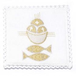 Servizio da Messa Pani e Pesce in puro lino