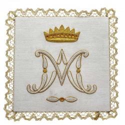 Palla Monogramma con corona a mano in tessuto seta