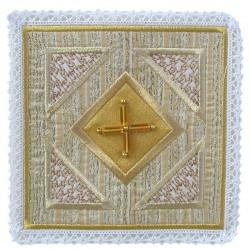 Palla con croce vetro su tessuto in seta