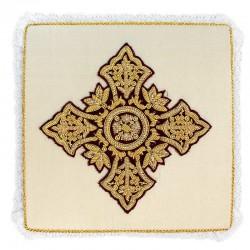 Palla Croce punte larghe ricamo a mano su pura seta