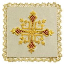 Palla Croce ricamo a mano in tessuto seta