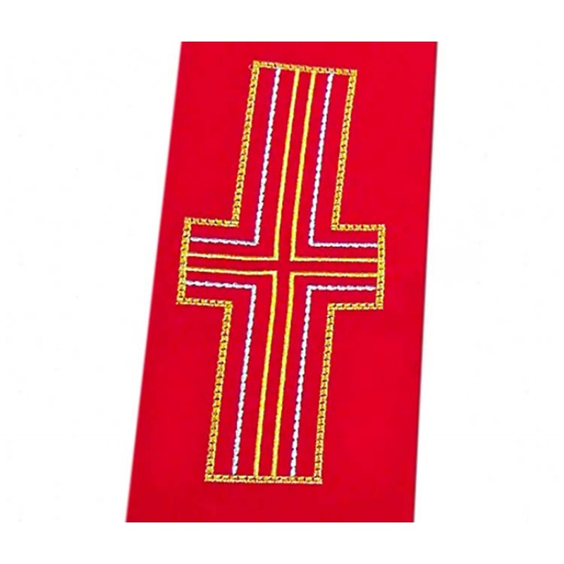 Diaconal Stole With Alpha Omega And Cross Polyester